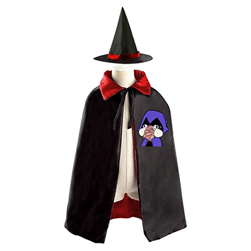 Teen Titans Kids Halloween Party Costume Cloak Wizard Witch Cape With Hat