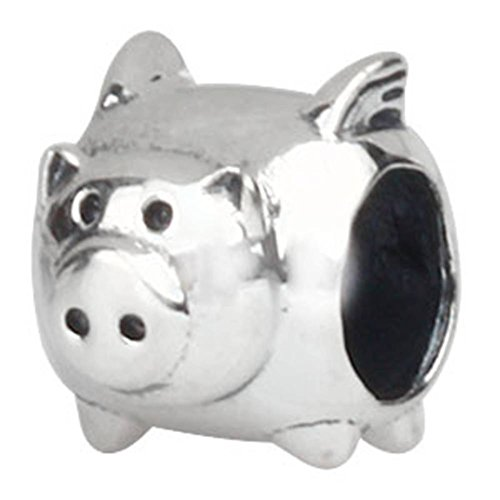 Choruslove Flying Pig Charm Animal Bead for European Style Bracelet