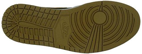 Nike Herren Air Jordan 1 Retro High Turnschuhe, Talla Schwarz / Gold / Weiß (Schwarz / Metallic Gold-Weiß)