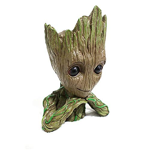 Bonsai Tree Pot Baby Groot Thinking Groot Succulent Pot Cactus Pot Pen Holder Make Up Brush Holder Great Quality And Extremely Detailed