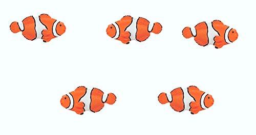 Set of 12 mini clownfish models