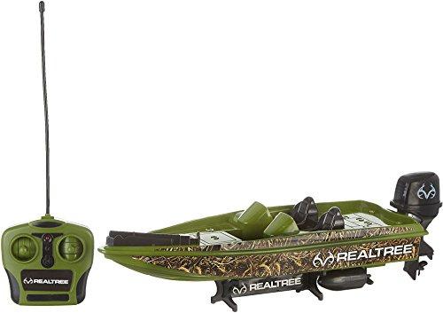 NKOK RealTree R/C Bass Boat Full-Function (Toy Bass Boat)