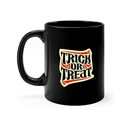 (Halloween Slogan Trick Or Treat Tea Fun Mug Ceramic Cup 11 Oz)
