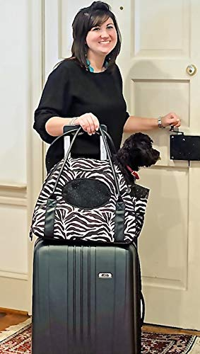 Gen7Pets Carry-Me Deluxe Cheetah Pet Carrier Cats Small Dogs, Medium