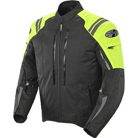 Joe Rocket Atomic 4.0 Men's Riding Jacket (Neon Yellow, Large) (Rockets Neon)