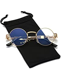 Round Metal Steampunk Vintage Circle Sunglasses DSR007