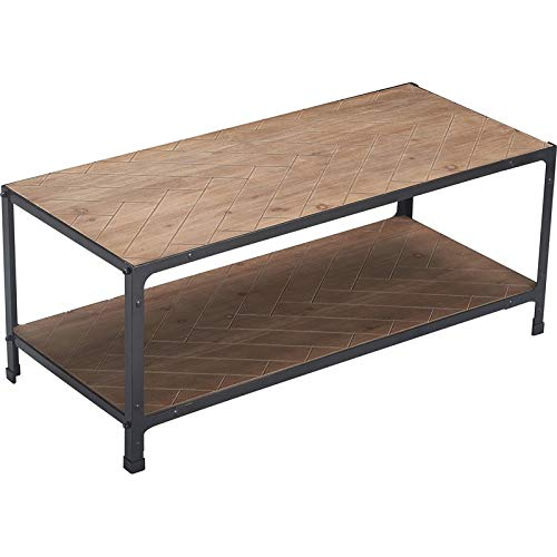 Amazon Com Serta Truly Home Farmhouse Coffee Table Wood And Black