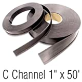 Magnetic ''C'' Channel Roll Stock, 1'' x 50', Black Color,, Magnetic C Channel Roll, Label, 600'' x 1''