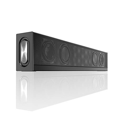 Computer Speakers Soundbar,Wired and Wireless Bluetooth Sound Bars with subwoofer, Stereo Home Theater Sound Bar,Bass HiFi Speakers for PC Cellphone Tablets Desktop Laptop TV
