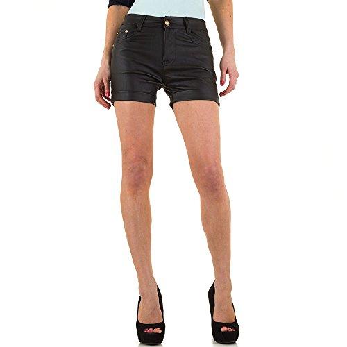 High Waist Lederoptik Shorts Für Damen , Schwarz In Gr. Xs/34 bei Ital-Design