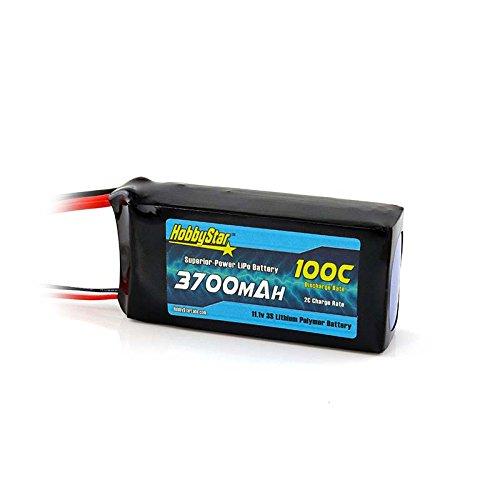 HobbyStar 3700mAh 11.1V, 3S 100C LiPo Battery, XT60 Plug ()