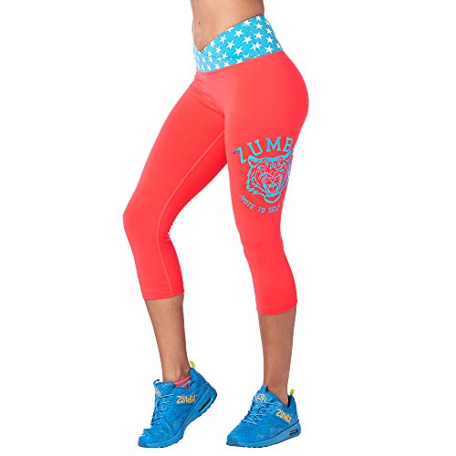 Zumba Compression Gym Athletic Print Capri Dance Workout Leggings For Women (Clothing Zumba Instructor)