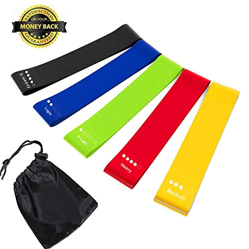 Piggy-G Resistance Loop Exercise Bands, Exercise & Fitness | Core & Abdominal Trainers - Perfect Crossfit, Yoga, Physical Therapy Booty Building Home Gym Fitness Strength Training Bands