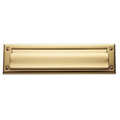Polished Brass Letter Plate (Baldwin Estate 0012.003 Letter Box Plate in Polished Brass, 13