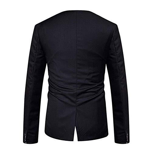 Haidean Eleganti Schwarz Fit Cappotto Giacche Lavoro Uomo Tempo Con Capispalla Bottone Autunno Slim Moderna Libero Blazer Casual Per Un Da Giacca Il 1Uqr7H1