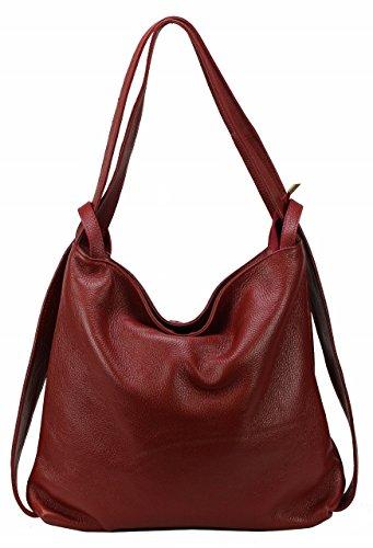 Bozana Bag Mia Rot red Backpacker Designer Rucksack Ledertasche Damenhandtasche Schultertasche Leder Italy Neu