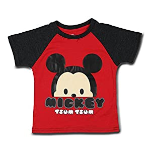 "Disney – Mickey ""Tsum Tsum"" Red Short Sleeved T-Shirt BoysToddler 2-5T"