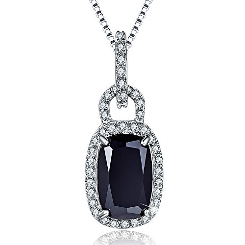 Aurora Tears Black Tear Drop Pendant Necklace with 8.6
