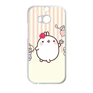 cute pink lovely rabbit cartoon personalized high quality cell phone case for HTC M8 by Maris's Diaryby Maris's Diary