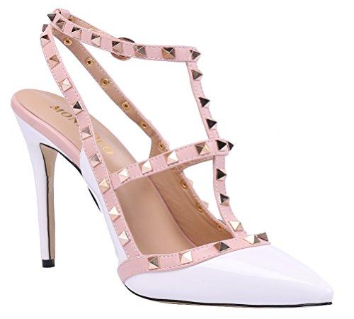 Vestir Lackleder 2015 Monicoco Zapatos Mujer De Para Weiß 1UWSwqx