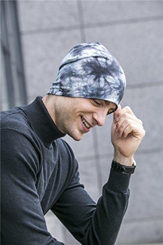 diseño Skull Algodón Cap para único azulado de los Hat las Beanie de BaronHong hombres mujeres gris wUdqnE77x
