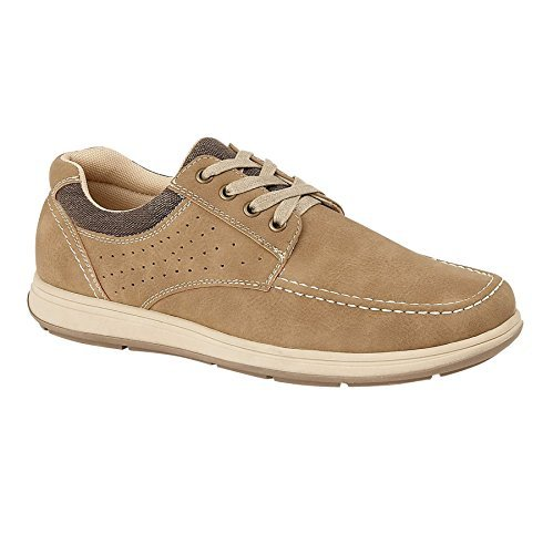Sapphire Boutique by Sapphire Sapphire Boutique Mens Ankle Faux Leather Suede Smart Comfort Lace up Shoes Loafer Trainers Beige IseWS5l3zw