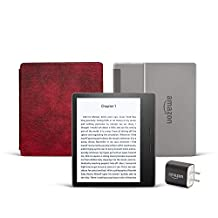 All-new Kindle Oasis Essentials Bundle including Kindle Oasis (Graphite), Amazon Leather Cover, and Power Adapter