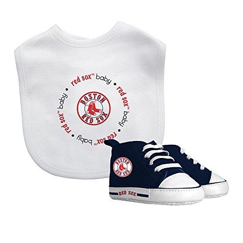 Baby Fanatic Bib & Prewalker Gift Set- Boston Red Sox