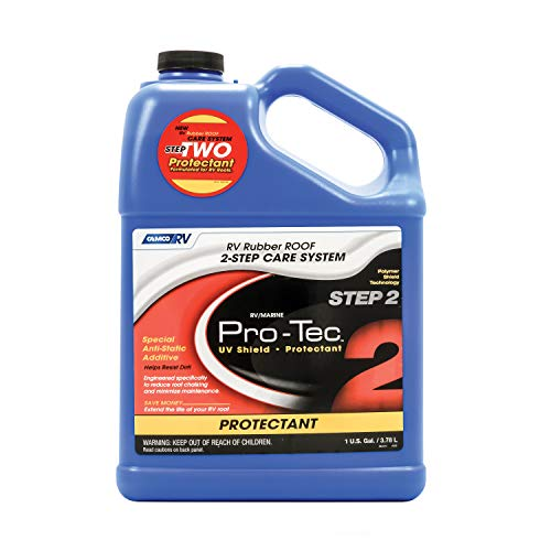 Rubber Roof Care Rv - Camco Pro-Tec Rubber Roof Protectant Gallon - Reduces Roof Chalking and Resists Dirt, Helps Extend the Life of RV and Trailer Rubber Roofs (41448)