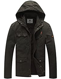 Men's Hooded Lightweight Cotton Jackets