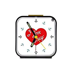 Custom I Love Lucy Square Black Alarm Clock