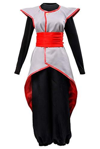 Dragon Ball Z Kai Goku Halloween Costume (UU-Style Dragon Ball Cosplay Halloween Dress Super Son Goku Black Supreme Kai Zamasu Merged Potara Uniform Suit)
