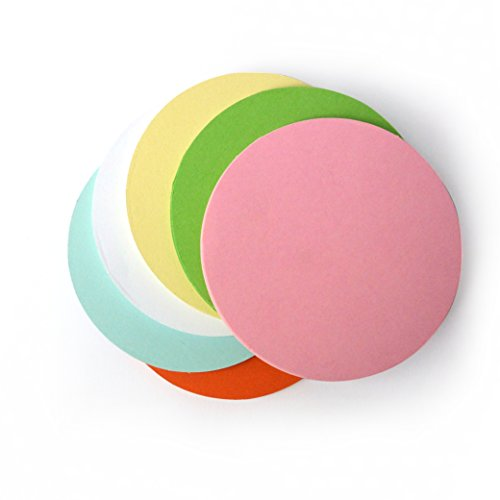 meetings Resource for classrooms OfficeTree moderation cards round 10 cm diameter Indispensable for professional presentation moderation 130g//sqm 250 pcs 6 colours discussion office