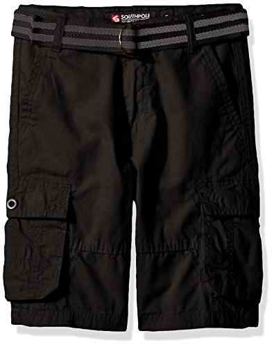8aea41d722 Galleon - Southpole Boys' Belted Mini Canvas Cargo Shorts In Various Colors,  Black, 8