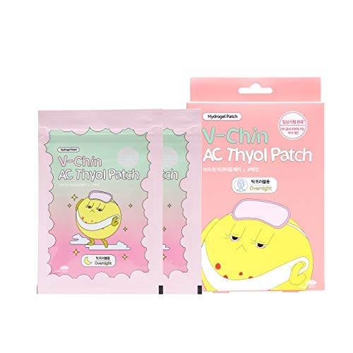 Wooshin Labottach Acne Pimple Patch - AC Thyol Patch for Chin, 1 Box (4 Patches)