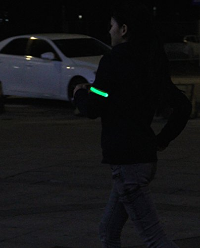 2 Pack, BSeen (TM) Glow LED Armband, Glow and Flash, High Visibility in the Dark for the safety of Runners, Joggers, Pet Owners, Cyclists