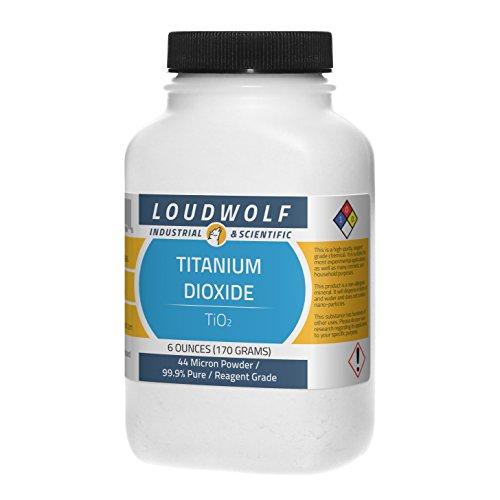 Titanium Dioxide   Fine Powder   6 Full Ounces   99 9  Pure   Ships Fast From Usa