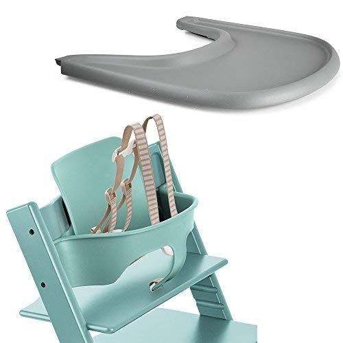 - Stokke Tripp Trapp Baby Set, Aqua Blue & Tripp Trapp Tray, Storm Grey