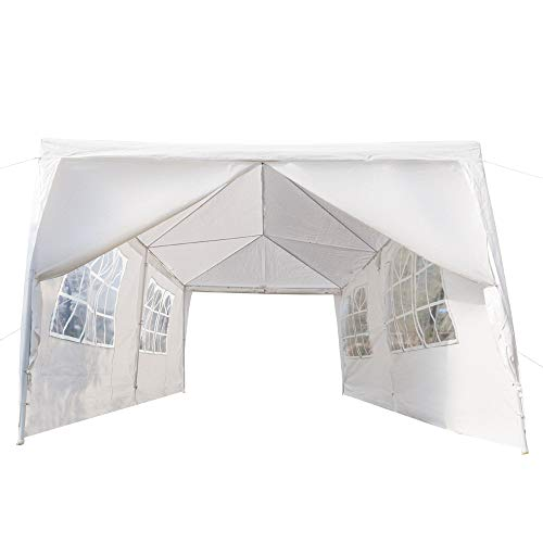 Crazyworld 10' x 20' Outdoor Canopy Wedding Party Tent with 6 Removable Sidewalls and Zippered Door,Upgraded Thicken Tube Size Sun Shelter SHED Gazebo Pavilion Garden Pool Event