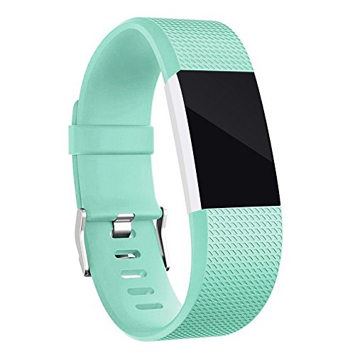 Wishesport For Fitbit Charge 2 Bands Special edition Replacement Bands Accessory Sport Bands Strap for Charge 2 HR Fitness dot S Teal