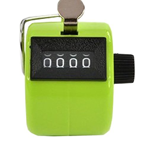 Bluecell World Bluecell Green Color Handheld Tally Counter 4 Digit Display for Lap/Sport/Coach/School/Event