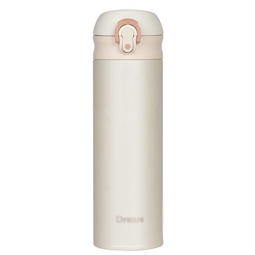 Sportflasche Isolier Becher Thermo Becher Travel Mug Kaffeebecher Wasserflasche Trinkbehälter Trinkflaschen-Leichtes Autogeschäftsgeschenkschale des Edelstahlstudenten FENPING
