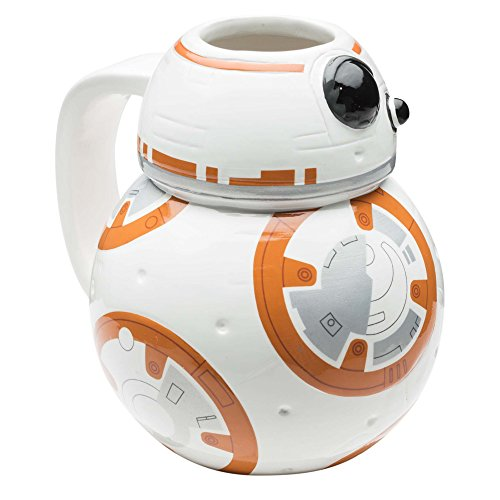 Zak Designs Star Wars Sculpted Ceramic Coffee Cup, BB-8