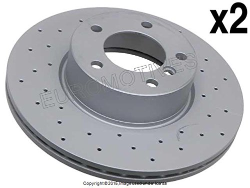 BMW 328 Xi (08-13) Brake Disc FRONT (set 2) CROSS DRILLED Zimmermann ''Coat Z''