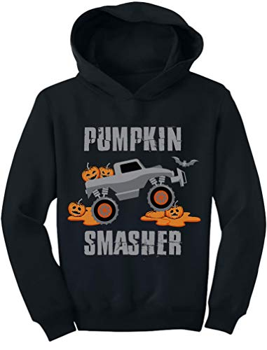 Pumpkin Smasher Jack O' Lantern Halloween Toddler Hoodie 2T Black -