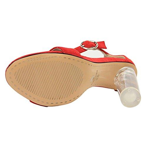 2 Red MiyooparkUK Femme DS29 pour Sandales Miyoopark Hn1ESwgq1