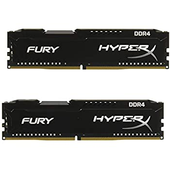 Kingston Technology HyperX Fury Black16GB 2933MHz DDR4 CL17 DIMM(Kit of 2) Memory HX429C17FB2K2/16