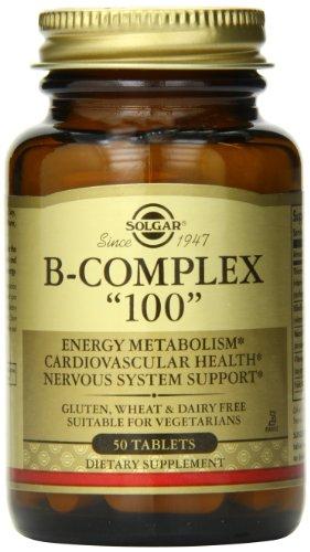 50 Vitamin Tablets Complex B (Solgar B-Complex Tablets, 50 Count)