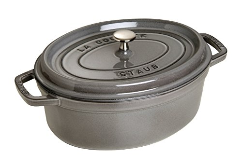 Staub French Oven - Oval - 5.4 L - Grey by Style