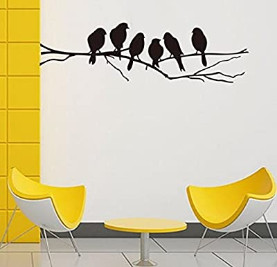 Wall stickers Decal Removable Black Bird Tree Branch Art Home Mural Decor